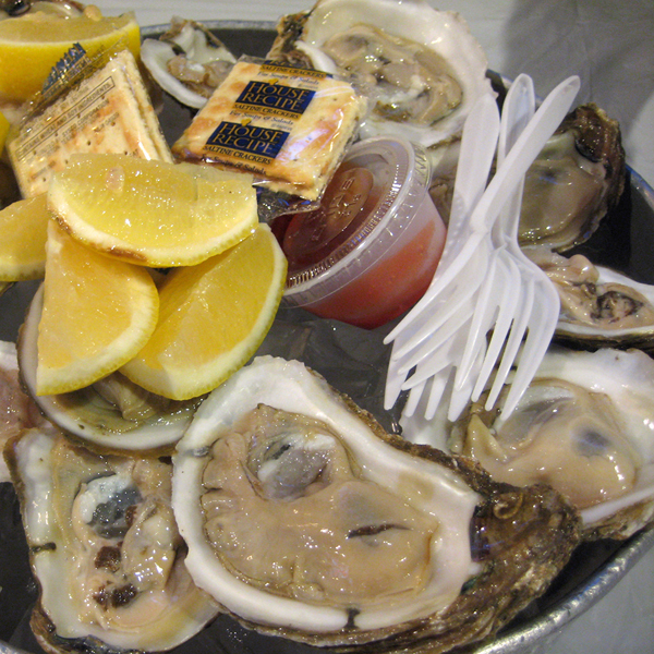 the world is your oyster -- are you gonna eat that?